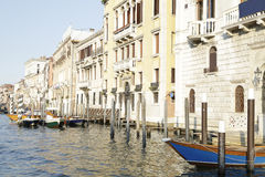 Buildings and boats on the Grand Canal, Venice, Italy Royalty Free Stock Images