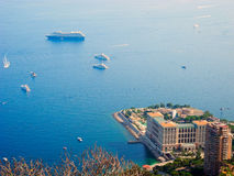Buildings and boats in Monaco. Royalty Free Stock Photography