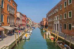 Buildings and boats in Murano Stock Image