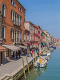 Buildings and boats in Murano Royalty Free Stock Photography