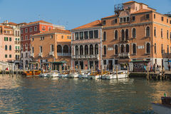 Buildings and Boats in Venice Stock Photography