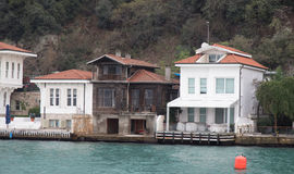 Buildings in Bosphorus Strait Stock Photography