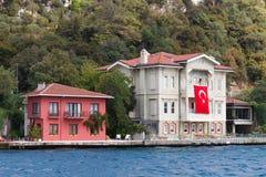Buildings in Bosphorus Strait Stock Photography