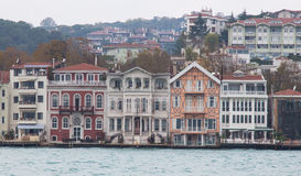 Buildings in Bosphorus Strait Stock Images