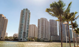 Buildings of Brickell Key, Miami - FL Royalty Free Stock Photos