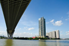 Buildings and bridge Royalty Free Stock Image