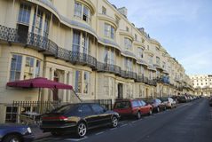 Buildings in Brighton. Typical Buildings on the Brighton seafront in south England, UK Stock Images
