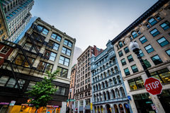 Buildings on Broad Street, in Boston, Massachusetts. Royalty Free Stock Photography