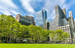 Buildings at Bryant Park in New York City royalty free stock photo