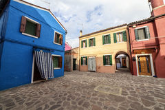 Buildings in Burano Island, Italy. Lovely buildings in Burano Island, Venice Italy Royalty Free Stock Images