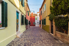 Buildings in Burano Royalty Free Stock Photos