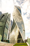 Buildings of business complex Moscow City. A lot of glass and co. Ncrete in modern architecture. Toned Royalty Free Stock Image