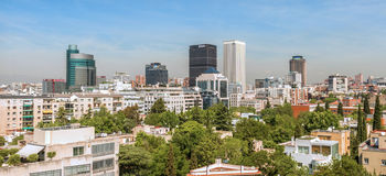 Buildings in business district of Madrid, Azca Royalty Free Stock Images