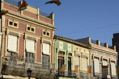 Buildings in the Cabanyal District of Valencia, Spain Stock Image