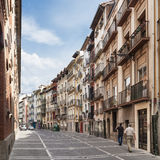 Buildings on Calle Nueva in Pamplona Stock Images