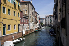 Buildings on a canal in Venice Royalty Free Stock Photos
