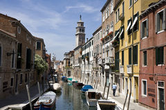 Buildings on a canal in Venice Royalty Free Stock Image