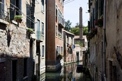 Buildings on a canal in Venice Stock Photo
