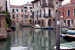 Buildings on a canal in Venice Stock Images