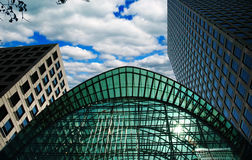 Buildings in Canary Wharf stock photos