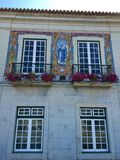 Buildings of Cascais - coastal resort town in Portugal stock images
