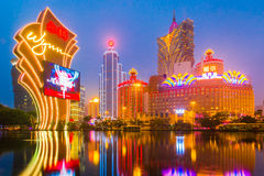 The buildings of casino in Macau, China Stock Images
