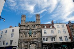 Buildings and cathedral gate Royalty Free Stock Photography