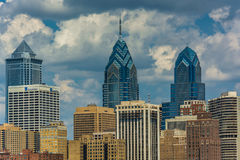 Buildings in the Center City of Philadelphia, Pennsylvania. Royalty Free Stock Image
