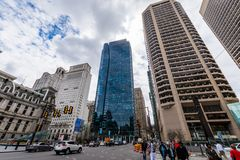 Buildings in Center City in philadelphia pennsylvania during spr. Ing Royalty Free Stock Images