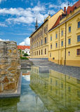 Buildings in the center of Keszthely town, Hungary Royalty Free Stock Photos