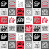 Buildings checked pattern royalty free stock photography