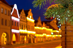 Buildings with christmas decoration Stock Photography