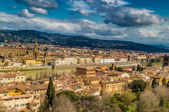 Buildings  and churches of Florence. Vertiginous views on the ancient buildings and Catholics churches of Florence, Italy Royalty Free Stock Image