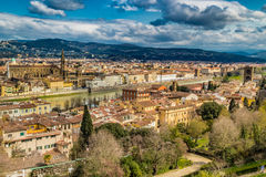 Buildings  and churches of Florence. Vertiginous views on the ancient buildings and Catholics churches of Florence, Italy Stock Images
