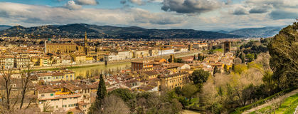 Buildings  and churches of Florence. Vertiginous views on the ancient buildings and Catholics churches of Florence, Italy Stock Image