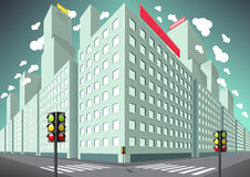 Buildings in the city. Buildings in the big city Vector Illustration