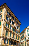 Buildings in the city center of Genoa Royalty Free Stock Image