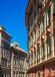 Buildings in the city center of Genoa Royalty Free Stock Photo