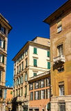 Buildings in the city center of Genoa Stock Photography