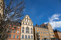 Buildings in the city center of Stockholm Stock Photo