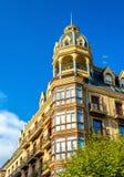 Buildings in the city centre of San Sebastian - Spain Royalty Free Stock Photo