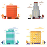 Buildings. City buildings flat vector concept ,great for web print or presentation Royalty Free Stock Image