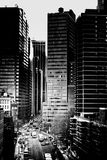 Buildings and City Grayscale Photo Stock Photos