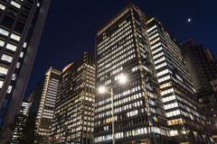 Buildings at the city night Stock Image