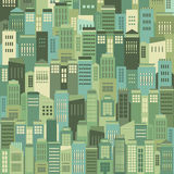 Buildings In The City Pattern Background Stock Image