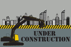 Buildings of the City. Under Construction. Vector Stock Photography