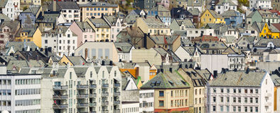 Buildings Close-up, Alesund, Norway Royalty Free Stock Image