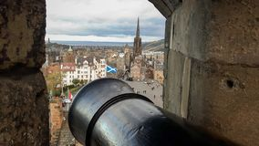 Buildings and clouds in Scotland. royalty free stock images