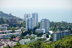 Buildings on the coast of Sochi Stock Image