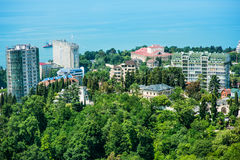 Buildings on the coast of Sochi, bird's-eye view Stock Images